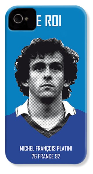 My Platini Soccer Legend Poster IPhone 4 Case by Chungkong Art