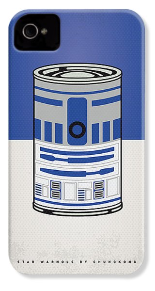 My Star Warhols R2d2 Minimal Can Poster IPhone 4 Case by Chungkong Art