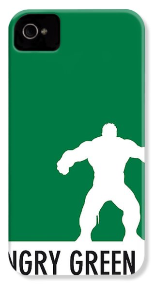 My Superhero 01 Angry Green Minimal Poster IPhone 4 Case