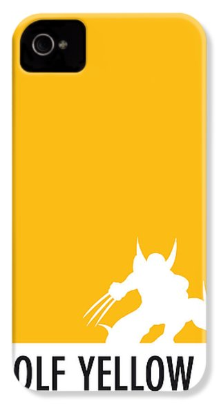 My Superhero 05 Wolf Yellow Minimal Poster IPhone 4 Case by Chungkong Art