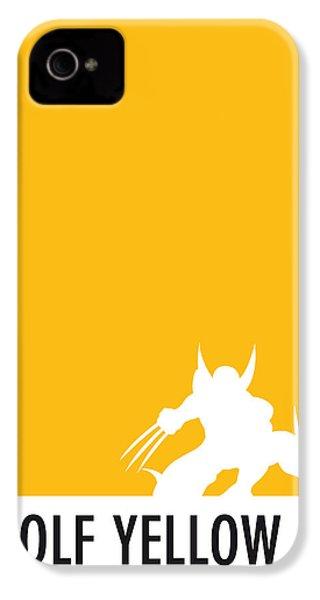My Superhero 05 Wolf Yellow Minimal Poster IPhone 4 Case
