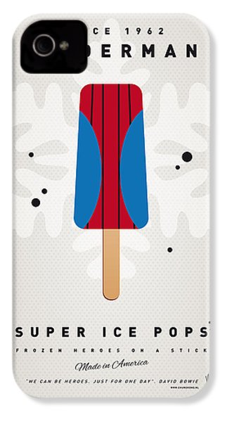 My Superhero Ice Pop - Spiderman IPhone 4 Case by Chungkong Art