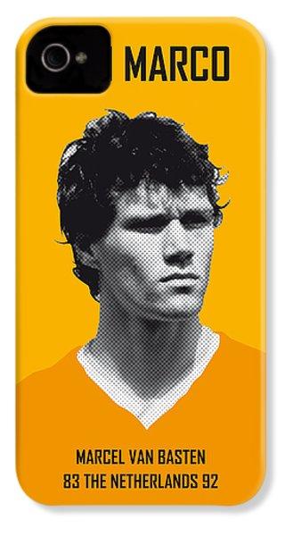 My Van Basten Soccer Legend Poster IPhone 4 Case by Chungkong Art