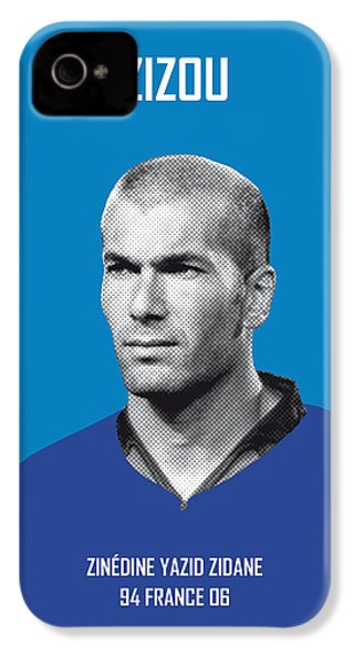 My Zidane Soccer Legend Poster IPhone 4 / 4s Case by Chungkong Art