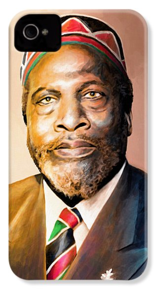 Mzee Jomo Kenyatta IPhone 4 / 4s Case by Anthony Mwangi