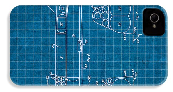 Nasa Space Shuttle Vintage Patent Diagram Blueprint IPhone 4 Case by Design Turnpike
