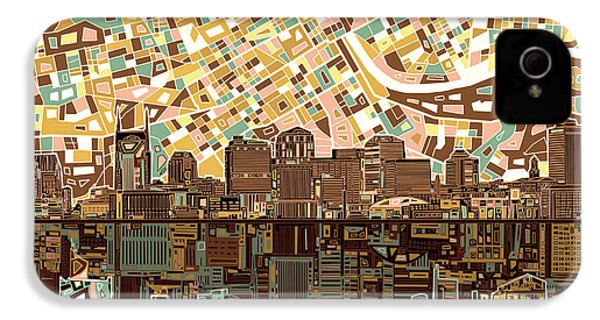 Nashville Skyline Abstract 4 IPhone 4 Case