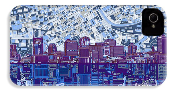 Nashville Skyline Abstract 8 IPhone 4 Case