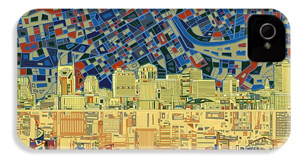 Nashville Skyline Abstract 9 IPhone 4 Case