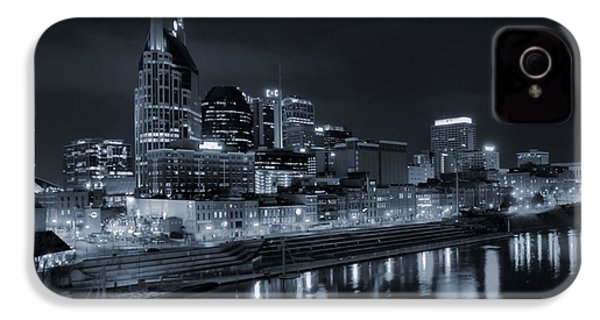 Nashville Skyline At Night IPhone 4 / 4s Case by Dan Sproul