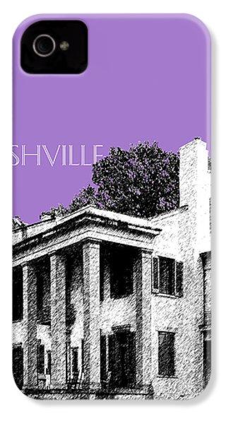 Nashville Skyline Belle Meade Plantation - Violet IPhone 4 Case by DB Artist