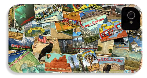 IPhone 4 Case featuring the drawing National Parks by Garry Walton
