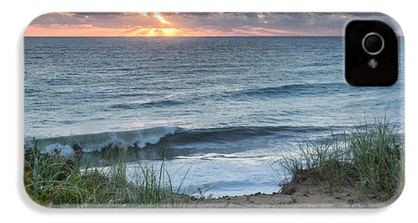 Nauset Light Beach Sunrise Square IPhone 4 Case by Bill Wakeley