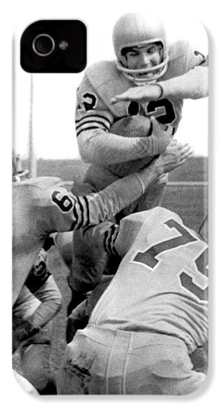 Navy Quarterback Staubach IPhone 4 / 4s Case by Underwood Archives