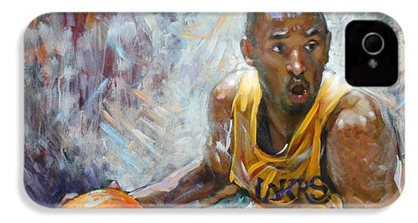 Nba Lakers Kobe Black Mamba IPhone 4 Case by Ylli Haruni