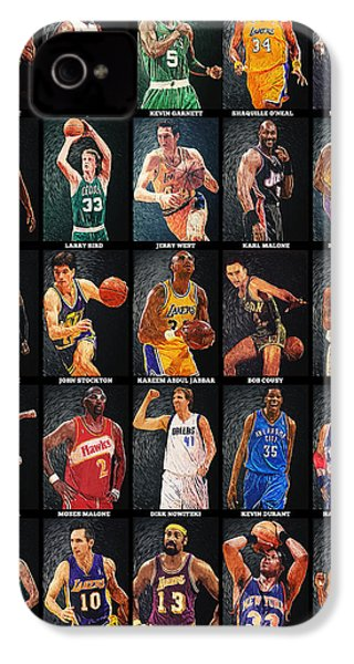 Nba Legends IPhone 4 / 4s Case by Taylan Apukovska