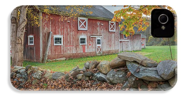 New England Barn IPhone 4 Case by Bill Wakeley