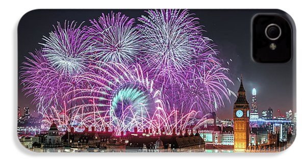New Year Fireworks IPhone 4 Case by Stewart Marsden
