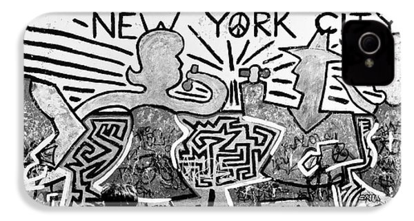 IPhone 4 Case featuring the photograph New York City Graffiti by Dave Beckerman