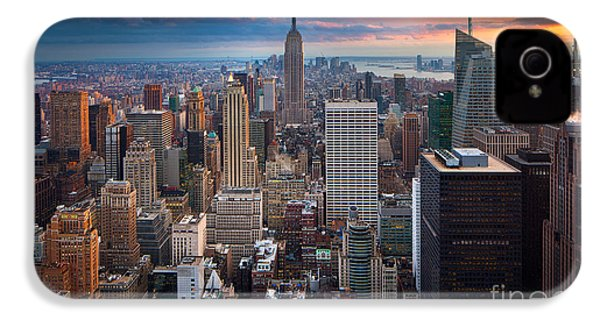 New York New York IPhone 4 Case by Inge Johnsson