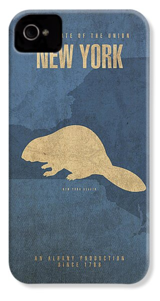 New York State Facts Minimalist Movie Poster Art  IPhone 4 Case by Design Turnpike