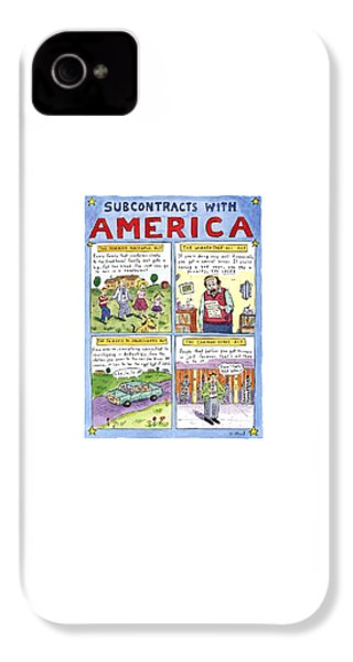New Yorker January 16th, 1995 IPhone 4 Case