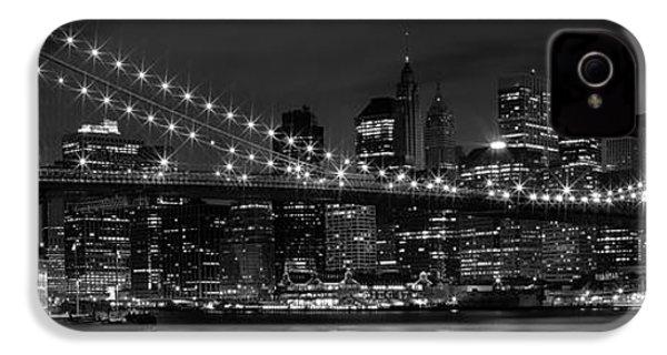 Night-skyline New York City Bw IPhone 4 Case by Melanie Viola