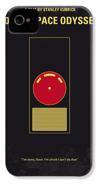 No003 My 2001 A Space Odyssey 2000 Minimal Movie Poster IPhone 4 Case by Chungkong Art