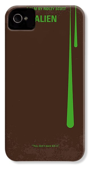 No004 My Alien Minimal Movie Poster IPhone 4 Case by Chungkong Art