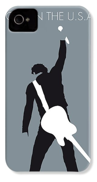No017 My Bruce Springsteen Minimal Music Poster IPhone 4 Case by Chungkong Art