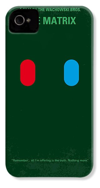 No117 My Matrix Minimal Movie Poster IPhone 4 Case by Chungkong Art