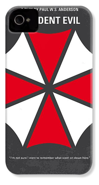 No119 My Resident Evil Minimal Movie Poster IPhone 4 Case