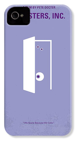 No161 My Monster Inc Minimal Movie Poster IPhone 4 Case by Chungkong Art