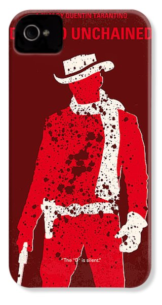 No184 My Django Unchained Minimal Movie Poster IPhone 4 / 4s Case by Chungkong Art