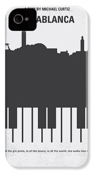 No192 My Casablanca Minimal Movie Poster IPhone 4 Case by Chungkong Art
