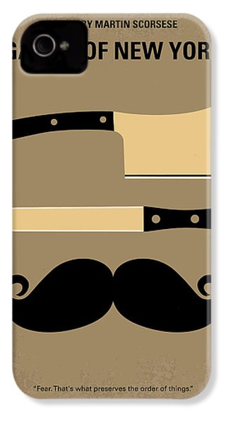 No195 My Gangs Of New York Minimal Movie Poster IPhone 4 Case