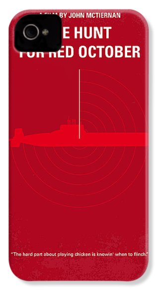 No198 My The Hunt For Red October Minimal Movie Poster IPhone 4 Case by Chungkong Art