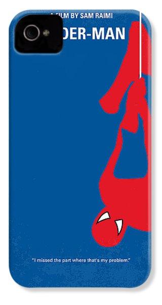 No201 My Spiderman Minimal Movie Poster IPhone 4 Case