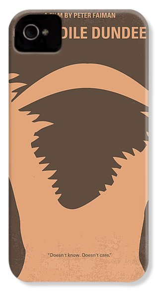 No210 My Crocodile Dundee Minimal Movie Poster IPhone 4 Case by Chungkong Art