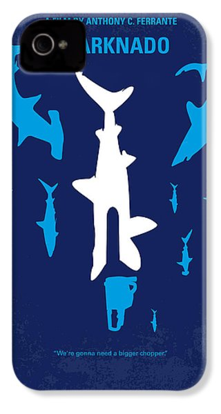 No216 My Sharknado Minimal Movie Poster IPhone 4 / 4s Case by Chungkong Art