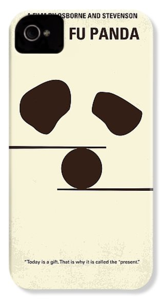 No227 My Kung Fu Panda Minimal Movie Poster IPhone 4 Case by Chungkong Art