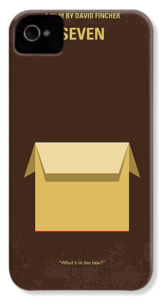 No233 My Seven Minimal Movie Poster IPhone 4 Case by Chungkong Art