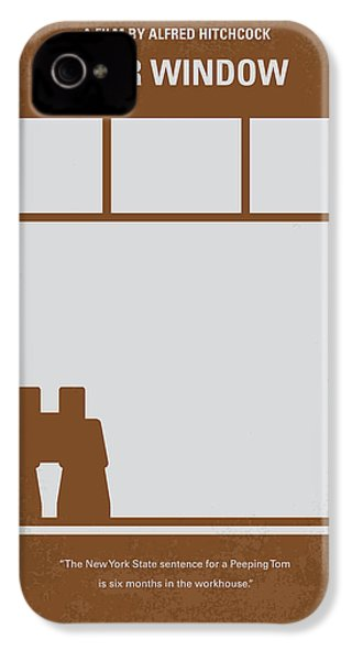 No238 My Rear Window Minimal Movie Poster IPhone 4 Case by Chungkong Art