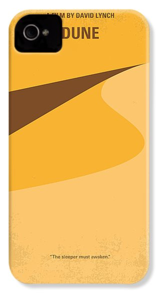 No251 My Dune Minimal Movie Poster IPhone 4 Case by Chungkong Art