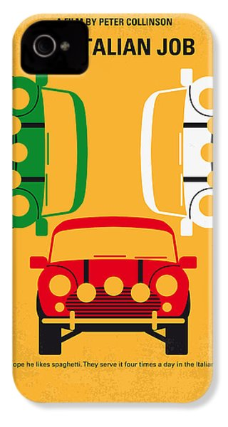 No279 My The Italian Job Minimal Movie Poster IPhone 4 / 4s Case by Chungkong Art