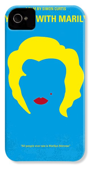 No284 My Week With Marilyn Minimal Movie Poster IPhone 4 Case by Chungkong Art