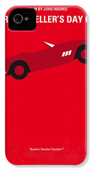 No292 My Ferris Bueller's Day Off Minimal Movie Poster IPhone 4 Case