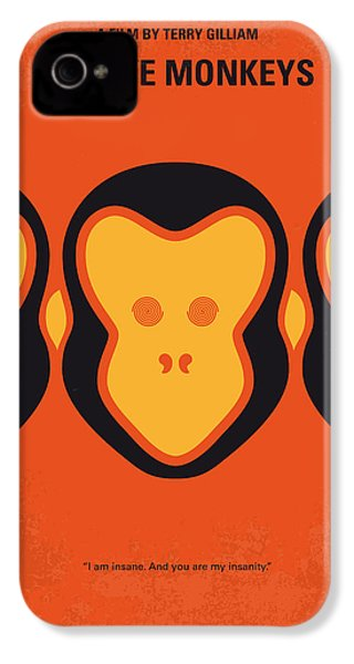 No355 My 12 Monkeys Minimal Movie Poster IPhone 4 Case by Chungkong Art