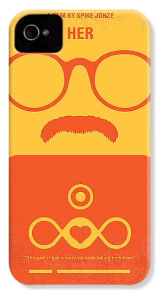 No372 My Her Minimal Movie Poster IPhone 4 Case by Chungkong Art