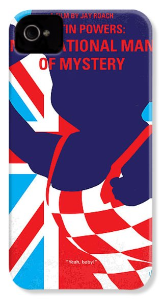No373 My Austin Powers I Minimal Movie Poster IPhone 4 / 4s Case by Chungkong Art